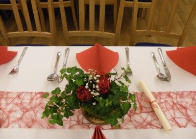 Hochzeit in rot und grün